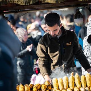 Печеная кукуруза  Grilled corn