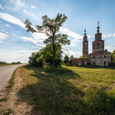 Коленцы, Рязанская область. Благовещенская церковь, 1752-1755  Kolentsy, Ryazan region. Annunciation church, 1752-1755