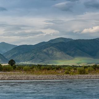 Река Катунь и Уймонская степь Katun river and Uymon steppe