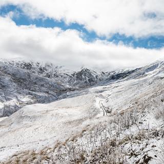Заснеженные Кавказские горы Snowy Caucasian Mountains