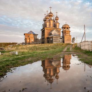 Ворзогоры, Архангельская область. Никольская церковь, 1636  Vorzogory, Arkhangelsk region. St Nicholas church, 1636
