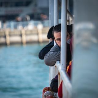 Полупортрет на корабле  А half-portrait on board