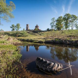 Нестерово, Тверская область. Троицкая церковь, 1819-1830  Nesterovo, Tver region. Trinity church, 1819-1830