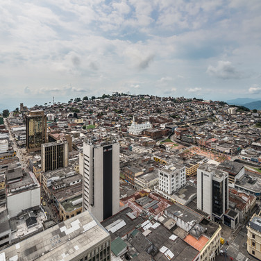 Вид Манисалеса с верхушки шпиля собора Manizales from the top of the Cathedral