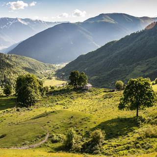 Вечерний свет в долине Гули Evening light in Guli valley