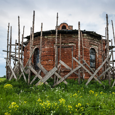 Урочище Зименки, Московская область. Покровская церковь, 1899  Former village of Zimenki, Moscow region