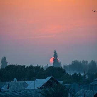 Закат над Ферганской долиной Sunset over Fergana Valley