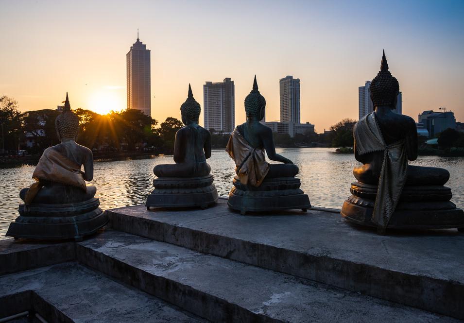 Закатный вид от храма Сеема Малака, Коломбо  Sunset view from Seema Malaka temple, Colombo