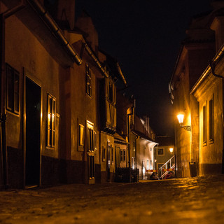 Злата уличка в Пражском Граде Zlatá Ulička (Golden Lane) in Prague Castle