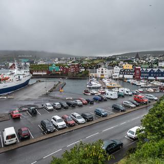 Панорама Торсхавна, фарерской столицы Panorama of Tórshavn, the Faroese capital
