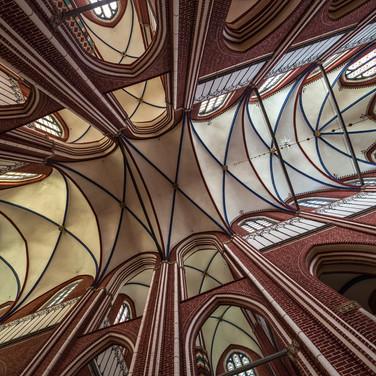 Свод главного нефа собора Доберанер Мюнстер The vault of the main nave of Doberaner Münster cathedral
