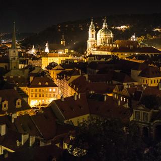 Вид на Малу Страну от Пражского Града A view over Malá Strana from Prague Castle