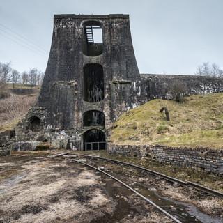 Руины металлургического завода 18 века в Бленавоне Ruins of 18th century ironworks in Blaenafon