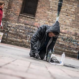 Уличный художник, Богота Street painter, Bogotá