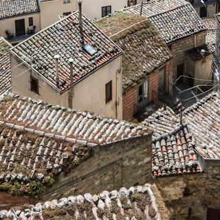 Старые черепичные крыши, Петралия Соттана Old tiled roofs, Petralia Sottana
