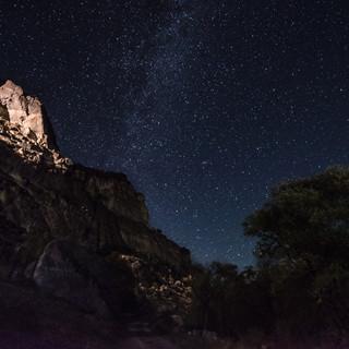 Звезное небо над Вардзией Starry sky over Vardzia