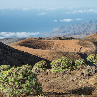 Вид со склона горы Топе-де-Короа, остров Санту-Антау  A view from the slope of Tope de Coroa mountain, Santo Antão island