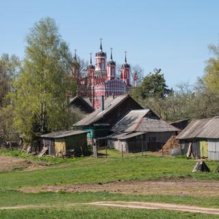 Красное, Тверская область. Спасо-Преображенская церковь, 1790  Krasnoye, Tver region. Transfiguration church, 1790
