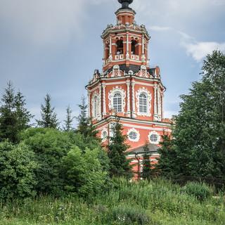 Спасская церковь в Уборах, московское барокко, 1697 Church of St Saviour in the village of Ubory built in 1697 in Moscow baroque style