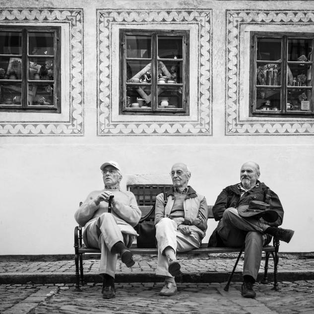 Три. Чески-Крумлов, Чехия The three, Český Krumlov, Czech Republic