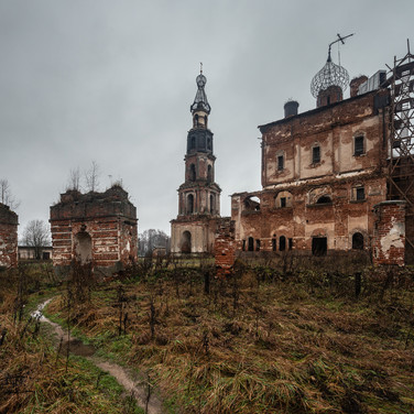 Кой, Тверская область. Троицкая церковь, 1717-1731  Koy, Tver region. Trinity church, 1717-1731