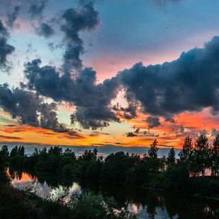 Закат на Белом озере, Вологодская область  A sunset over White lake, Vologda region