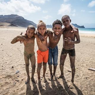 Дети. Саламанса, остров Сан-Висенти  Creole children. Salamansa, São Vicente island