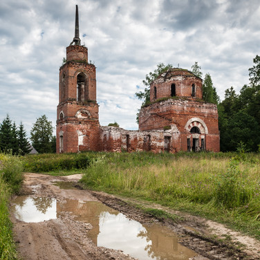 Купрово, Московская область. Воскресенская церковь, 1843  Kuprovo, Moscow region. Resurrection church, 1843