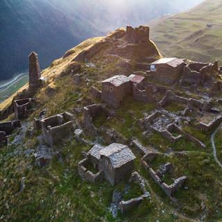 Развалины села Квавло  Ruins of Kvavlo village
