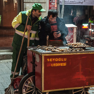 Ночью на улице Истикляль  At night in Istiklal Street