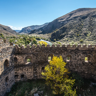 Вид долины Куры с башни крепости Хертвиси A view over Kura valley from  a tower of Khertvisi fortress
