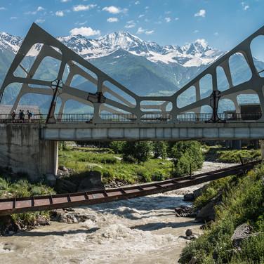 Новый мост в Местии The new bridge in Mestia