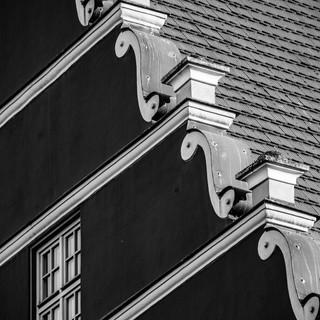 Архитектурные детали ратуши, Грайфсвальд, Германия Details of Greifswald's Town Hall, Germany