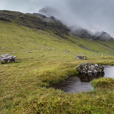 Дождливый пейзаж, остров Сувурой A rainy landscape, Suðuroy island
