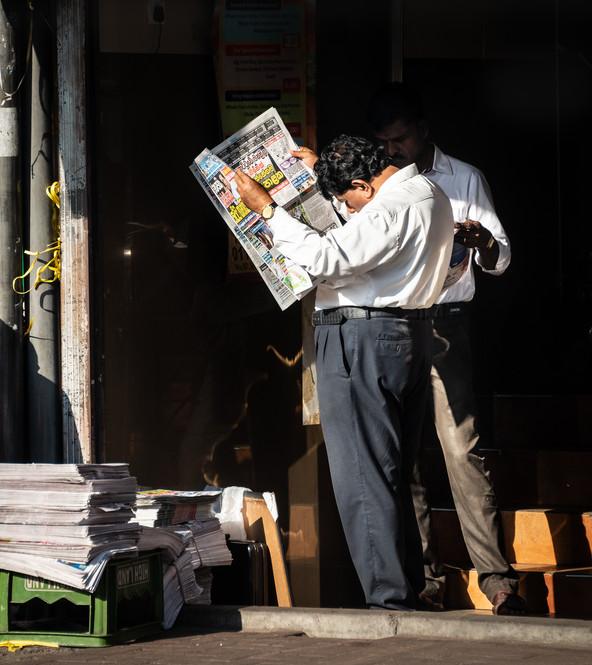 Утренняя газета, Коломбо  Morning news, Colombo