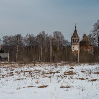 Обёзово, Ивановская область. Спасо-Преображенская церковь, 1792  Obyozovo, Ivanovo region. Transfiguration church, 1792