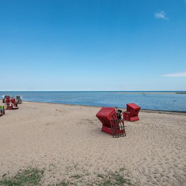 Пляж в Голльвице, остров Пёль рядом с Висмаром The beach in Gollwitz, island of Poel near Wismar