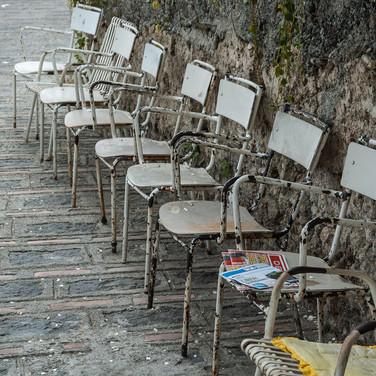 Стулья на улице, Савока Chairs in a street, Savoca