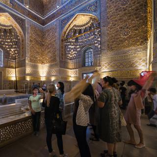 В мавзолее Гур-Эмир, Самарканд In Gur-e-Amir mausoleum, Samarkand
