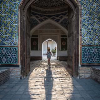 Входя во дворец кокандских ханов Entering Kokand Khan's Palace