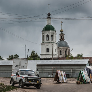 Центр Зарайска The centre of the town of Zaraysk