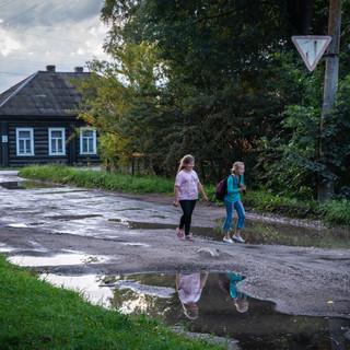 Городская улица, Белозёрск, Вологодская область  A town street, Byelozyorsk, Vologda region