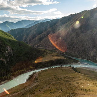Слияние Катуни и Аргута Katun and Argut rivers' confluence