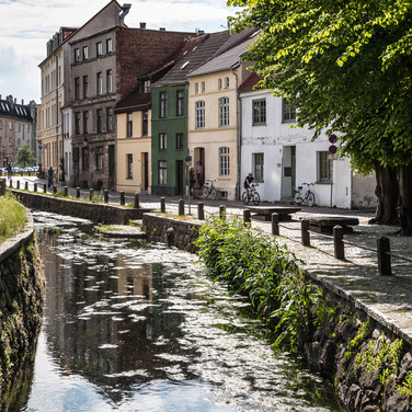 Канал Фрише Грубе, Висмар Frische Grube canal in Wismar's old town