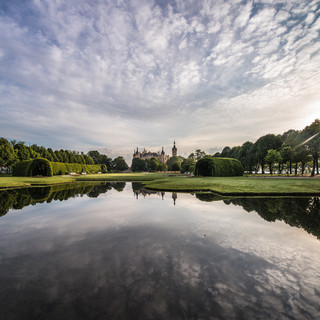 Раннее утро в прекрасном дворцовом парке в Шверине An early morning in the beautiful Schloßgarten (Palace Garden) in Schwerin