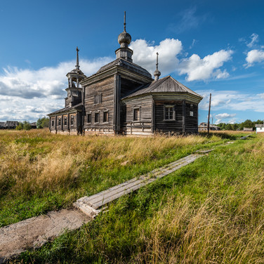 Сырья, Архангельская область. Никольская церковь, 1866  Syrya, Arkhangelsk region. St Nicholas church, 1866