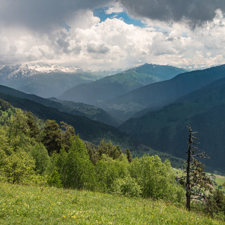 Горный пейзаж A mountain landscape