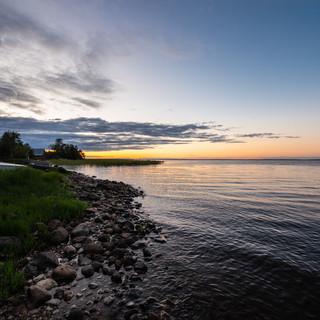 Закат на озере Воже, Вологодская область  A sunset over Vozhe lake, Vologda region