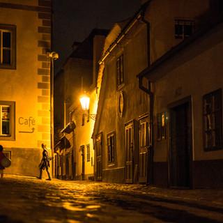 Почти как столетия назад... В Пражском Граде поздним вечером Almost as it used to be centuries ago... Prague Castle