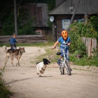 На деревенской улице, Лядины, Архангельская область  In a village street, Lyadiny, Arkhangelsk region